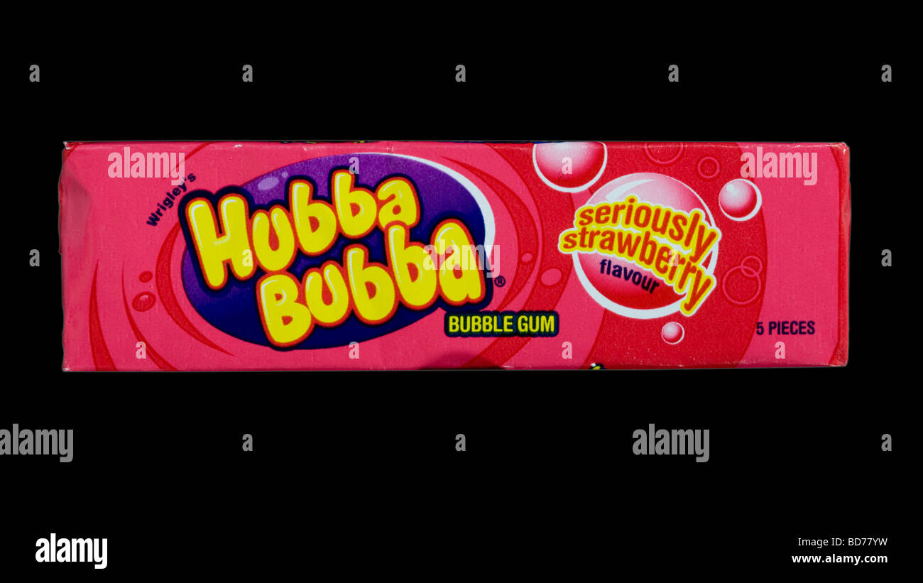 Bubble-gum Hubba Bubba tourné en studio Photo Stock