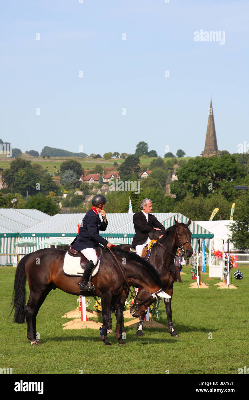 Show Jumping à l'Bakewell Show, Bakewell, Derbyshire, Angleterre, Royaume-Uni Photo Stock