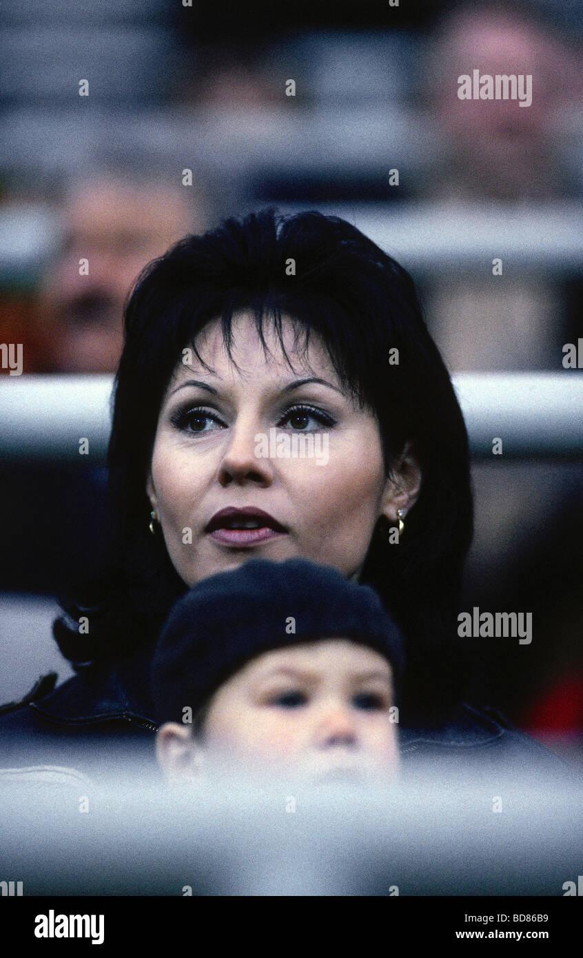 * Lothar Matthäus, 21.3.1961, en allemand (athlète) soccer/football, sa deuxième femme Lolita Morena, Photo Stock