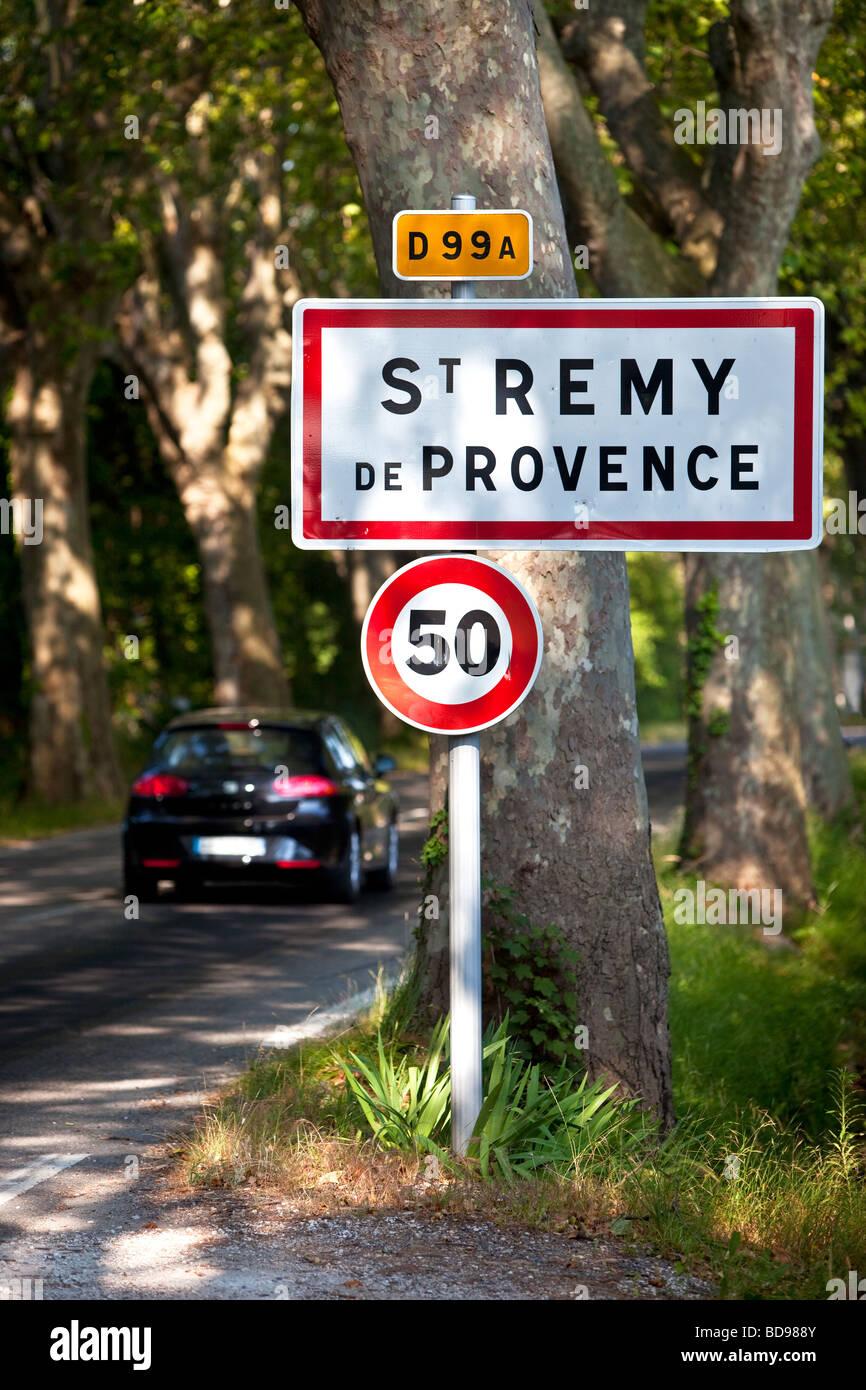 L'entrée de la ville de Saint Remy de Provence, France Photo Stock