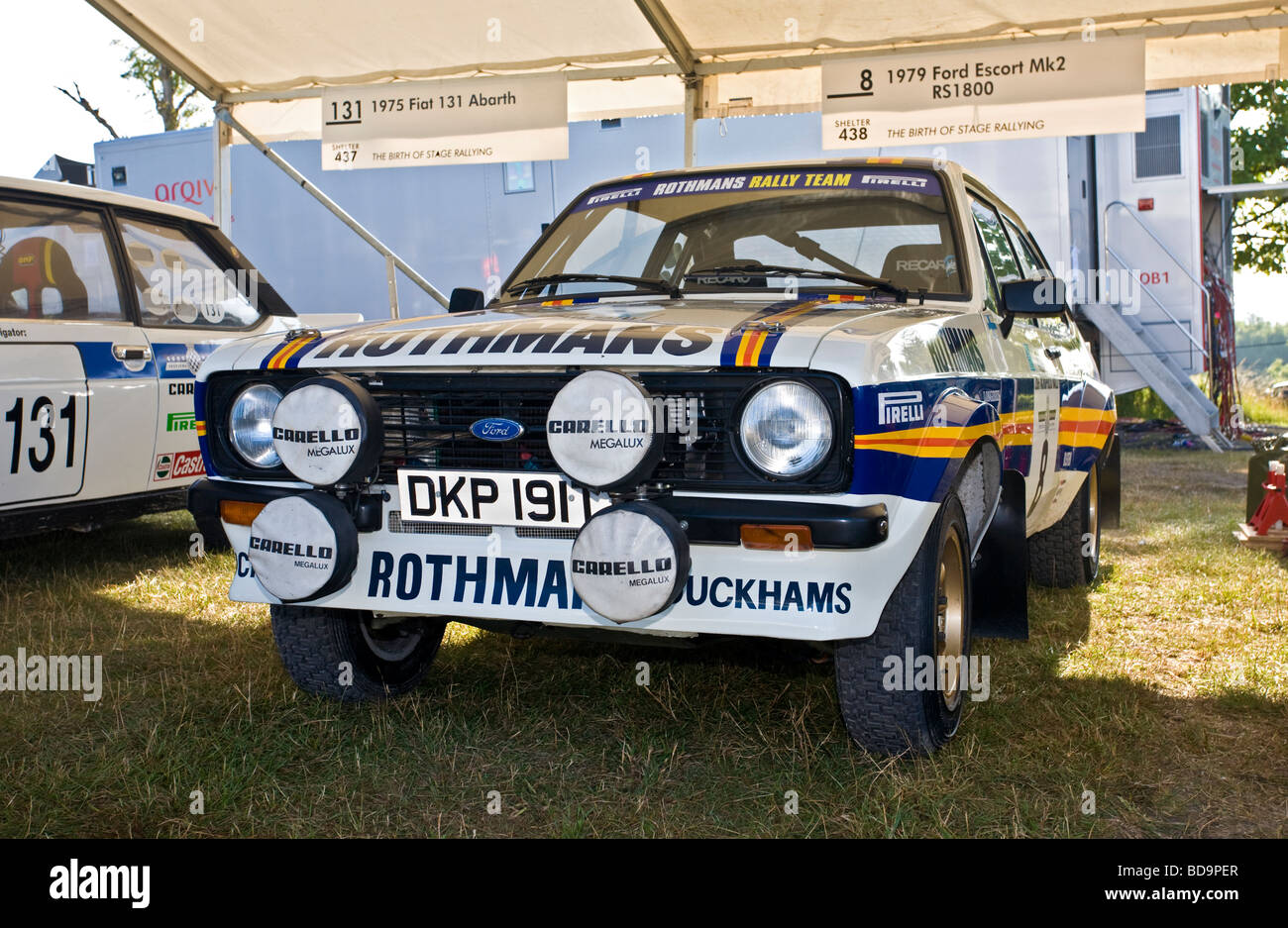 1979 ford escort mk2 rs1800 dans le paddock a goodwood festival of speed sussex