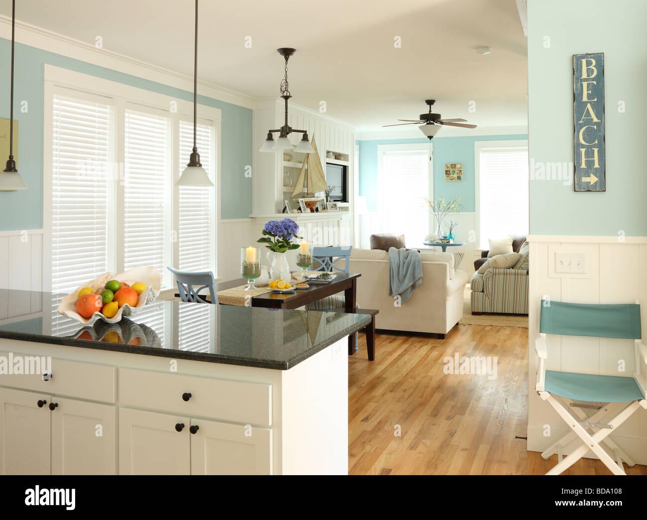 Beach house interior Photo Stock