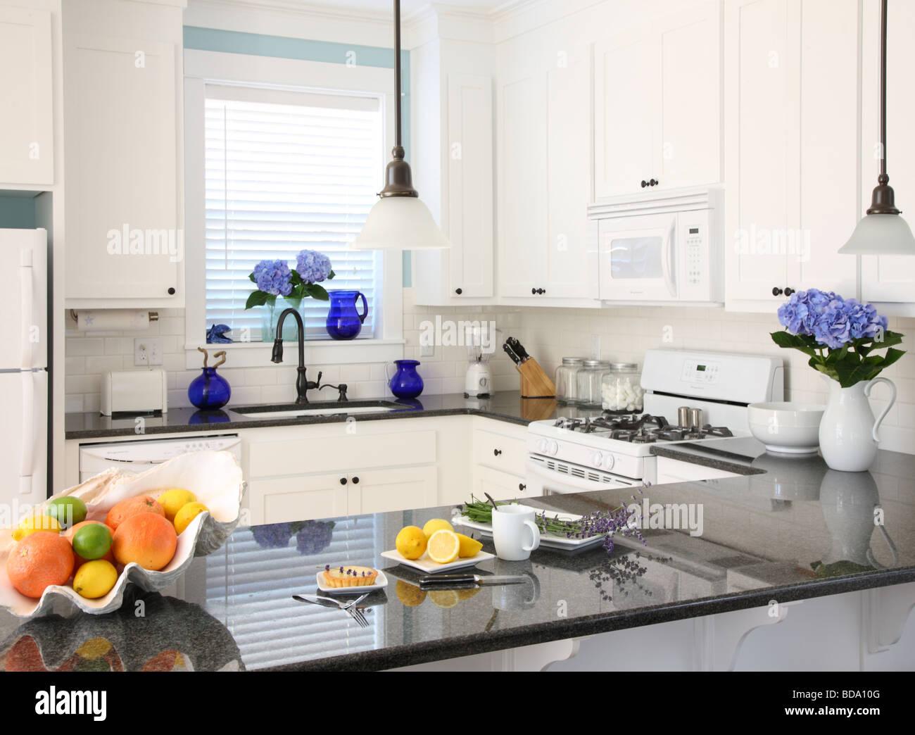 Beach house cuisine intérieur Photo Stock