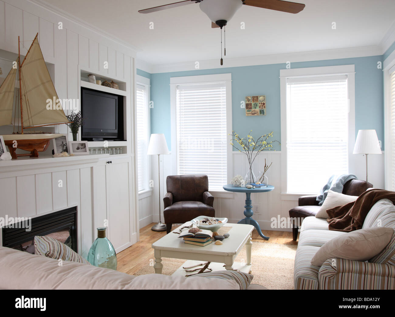 Beach house interior Photo Stock