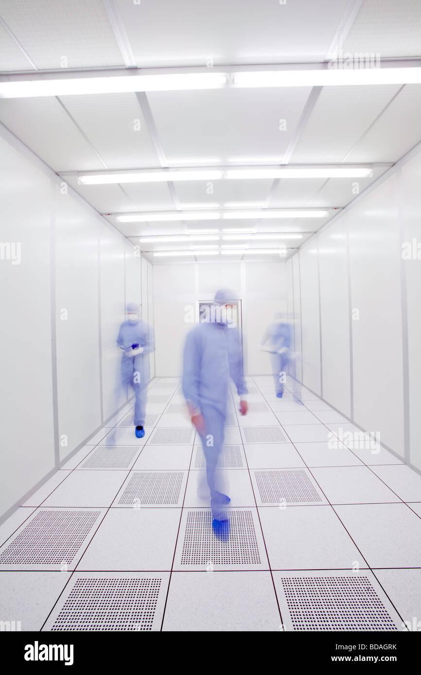 Les scientifiques dans un laboratoire. Photo Stock