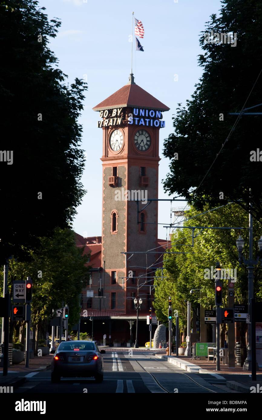 La gare Union à Portland, Oregon Photo Stock