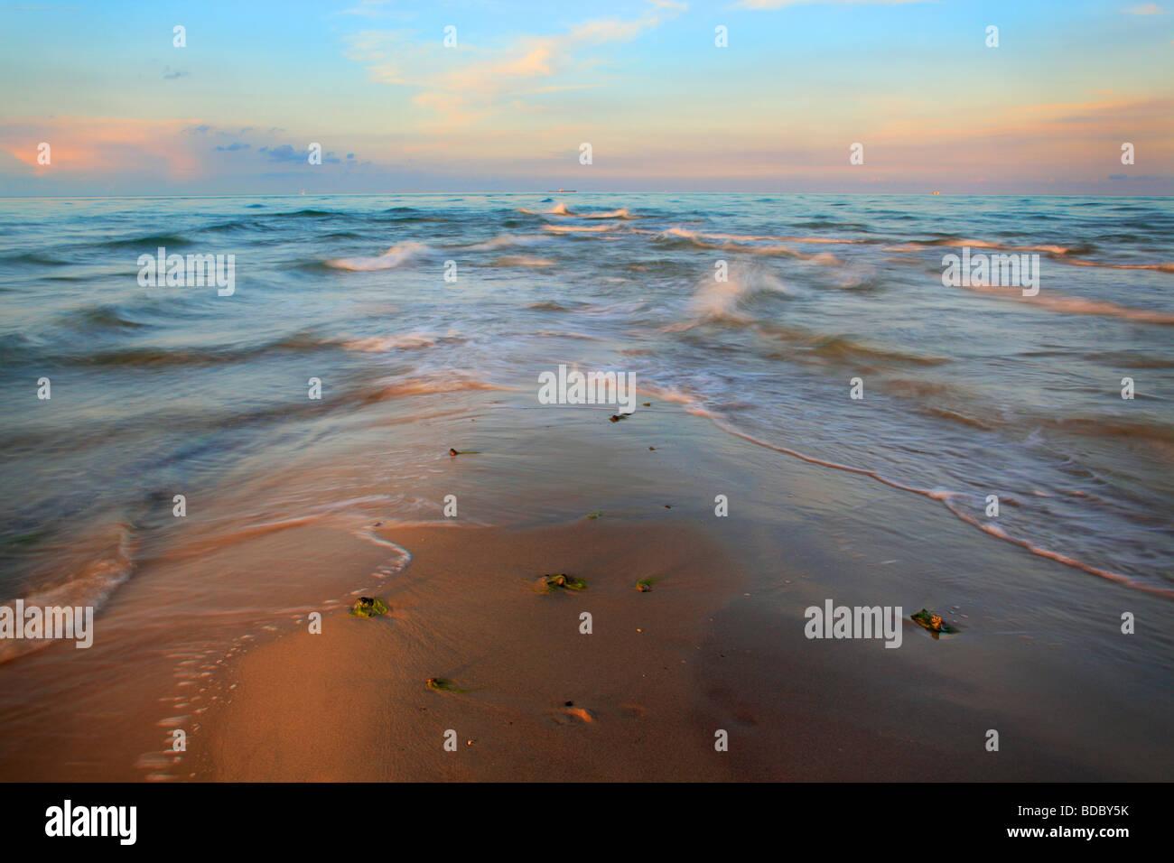 La plage de Skagen au Danemark Photo Stock