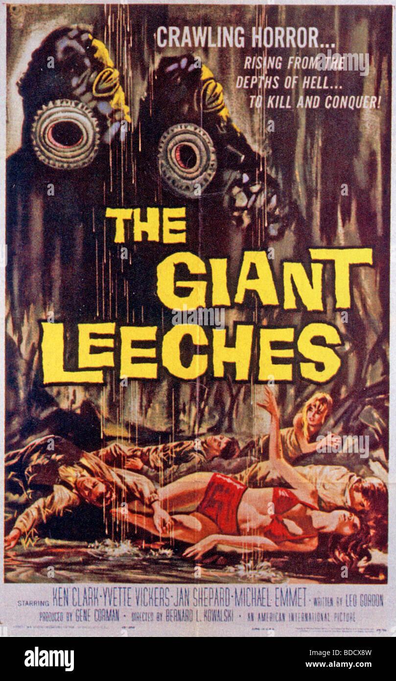 Le géant de l'Affiche du film les sangsues pour 1959 Photo Stock