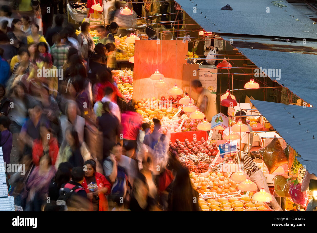 La Chine, Hong Kong. Fa Yuen Street Market, Photo Stock