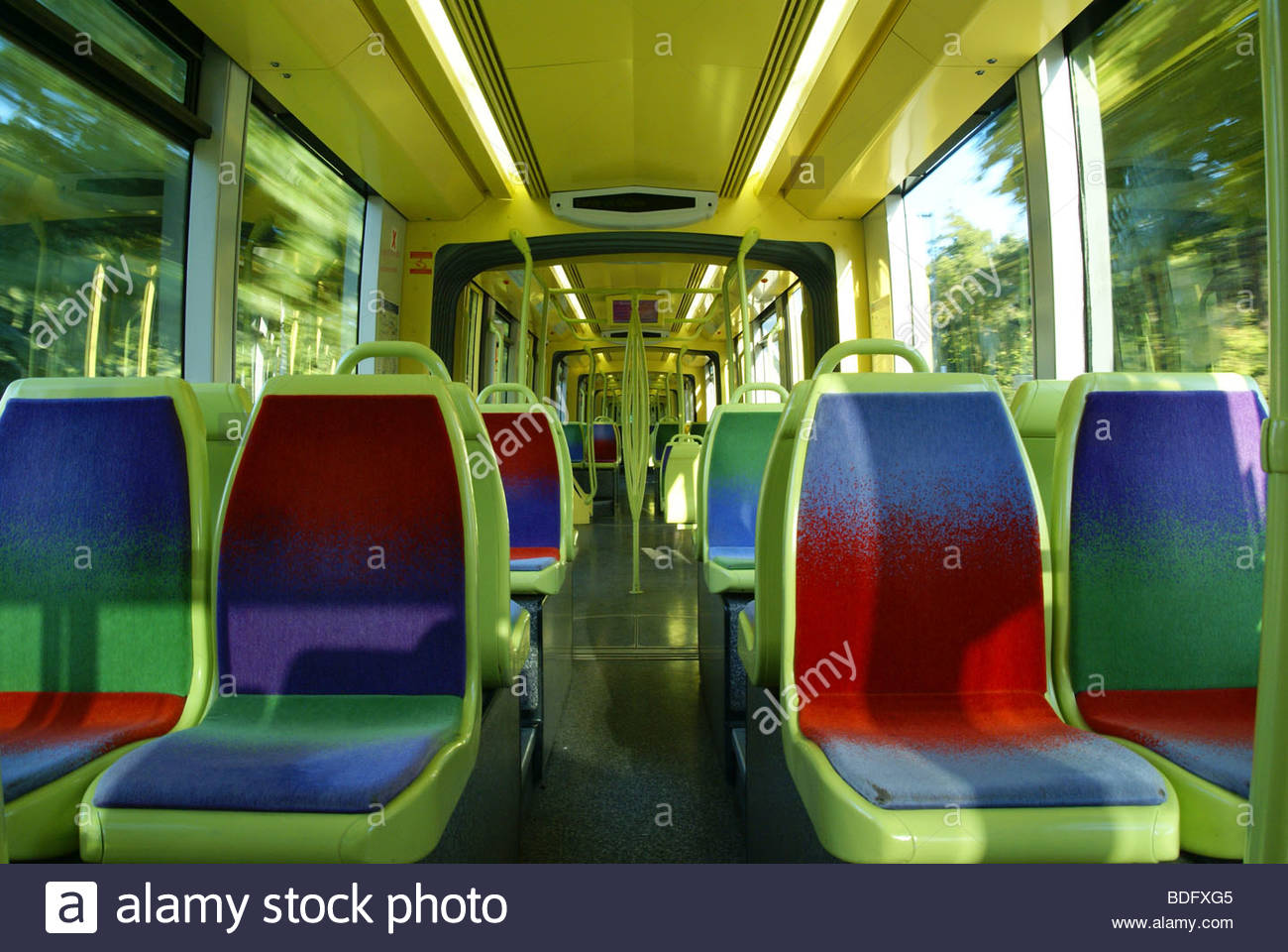 Les transports en commun : le tramway Photo Stock