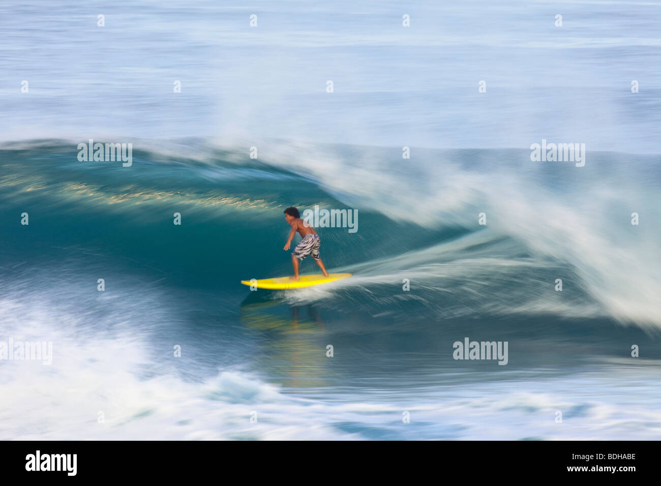 Surfeur hawaien