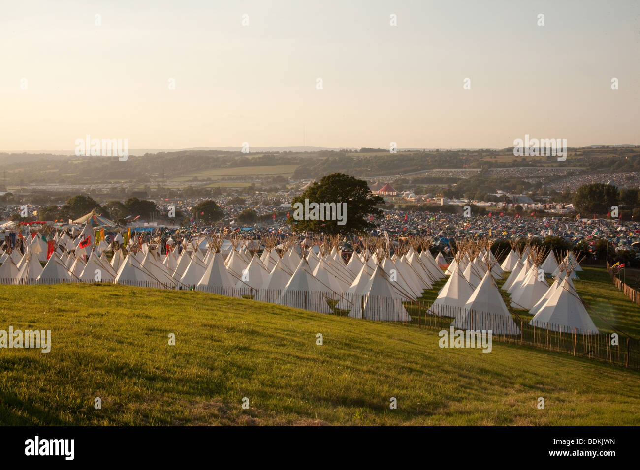 Le cercle de pierre au festival de Glastonbury 2009 Photo Stock