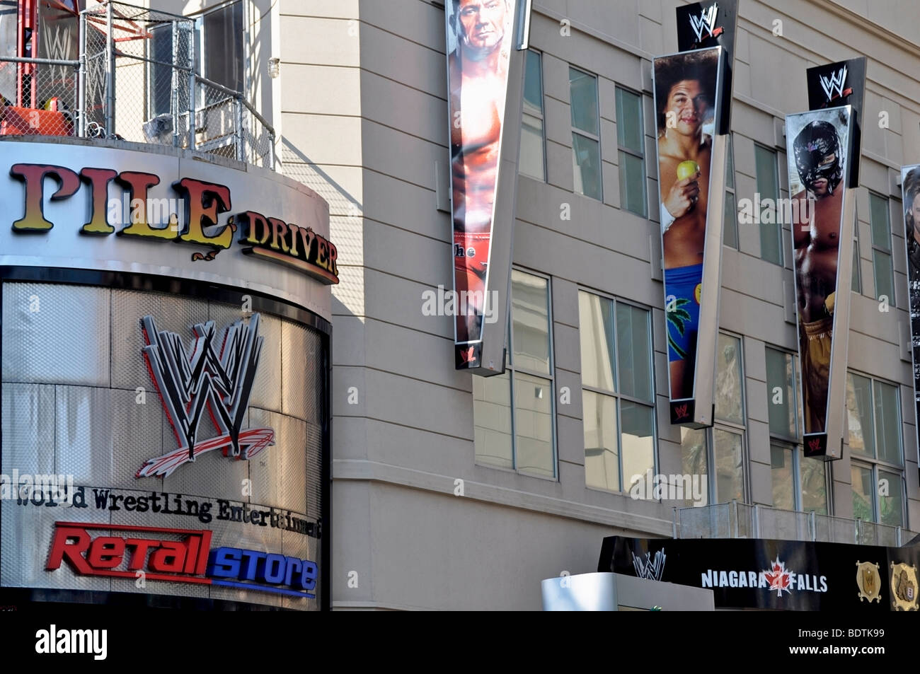 World Wrestling Entertainement (WWE) - attractions de Clifton Hill, Niagara, Canada Photo Stock