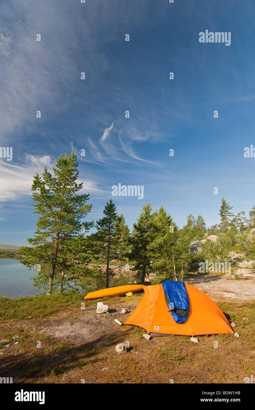 Camping en plein air, haerjedalen, Schweden, réserve naturelle, la Suède Banque D'Images