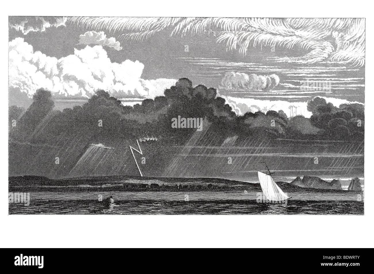 La formation des nuages et des phénomènes de la réfraction de la lumière Photo Stock