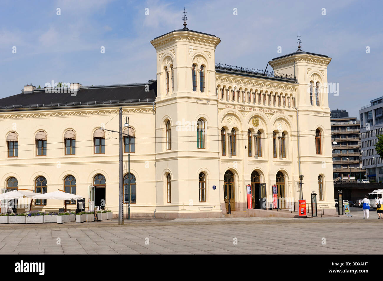 Centre Nobel de la paix, Radhusbrygge, Oslo, Norway, Scandinavia, Europe Photo Stock