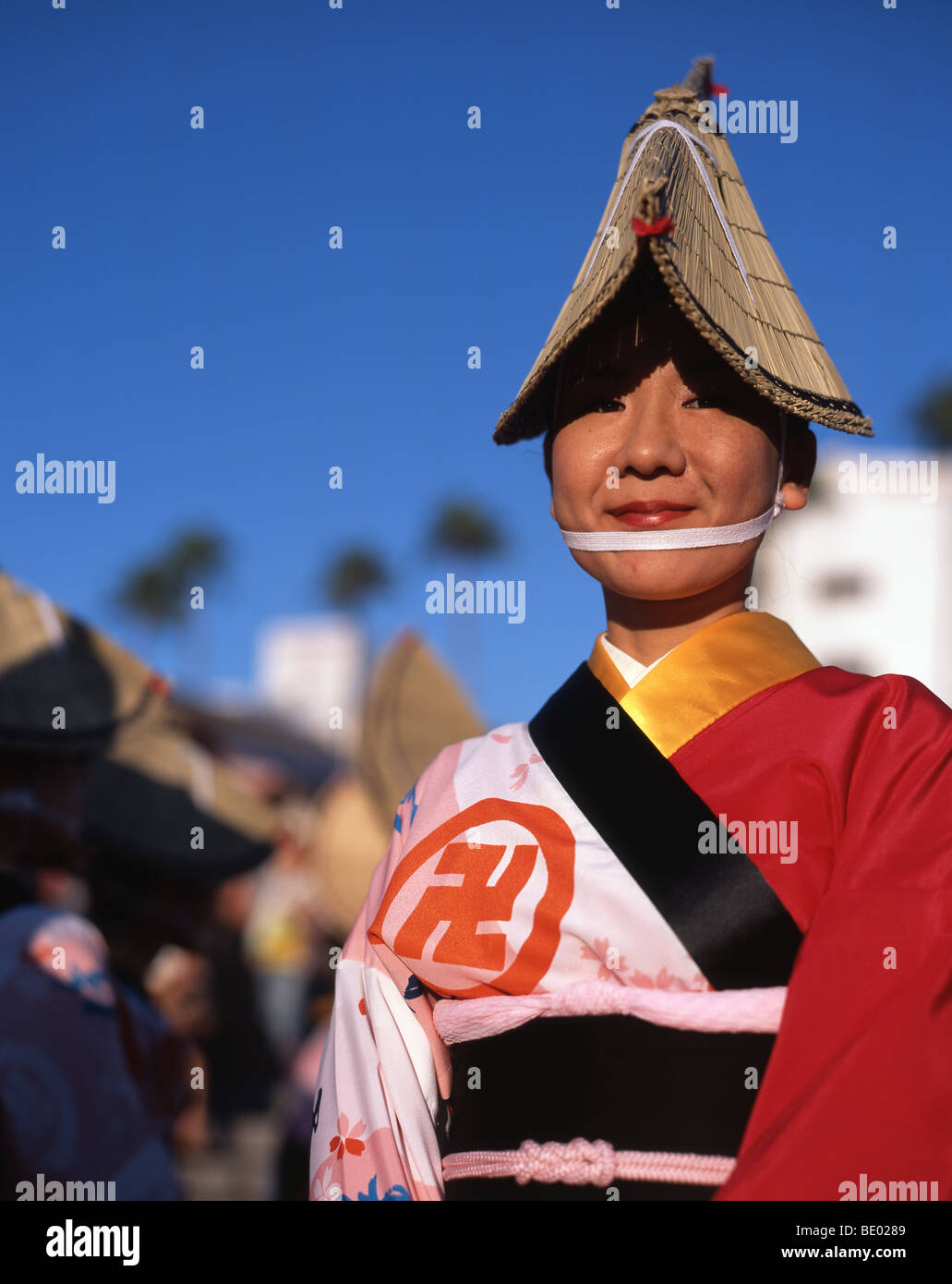 Awa Awa Odori - Festival de danse. Festival Obon à Tokushima City, Shikoku, au Japon. Plus grand festival de Photo Stock