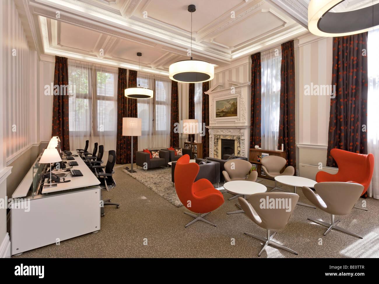 Lounge de la Royal Institution of Chartered Surveyors siège à Westminster, Londres. Photo Stock