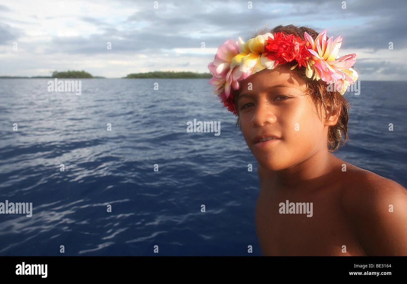 L'île de Tuvalu dans l'océan pacifique risque de disparaître dans les 50 prochaines années Photo Stock