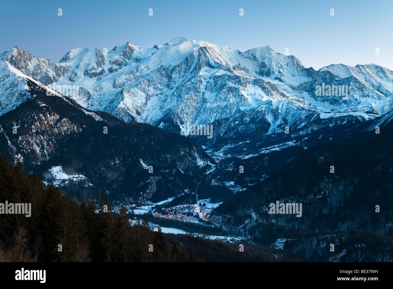 Chamonix-Mont-Blanc, Alpes, Haute Savoie, Chamonix, France Banque D'Images