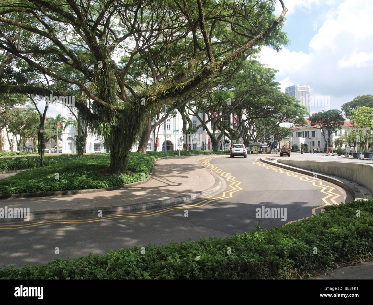 L'ambiance de la ville de Singapour. Photo Stock