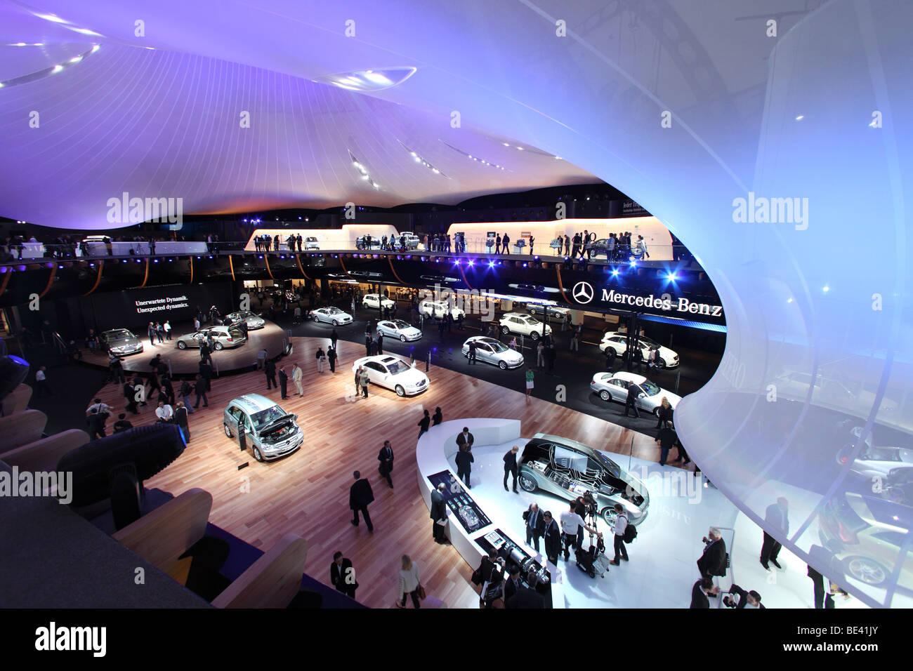 63ème International Motor Show (IAA): Présentation du constructeur Mercedes-Benz Banque D'Images