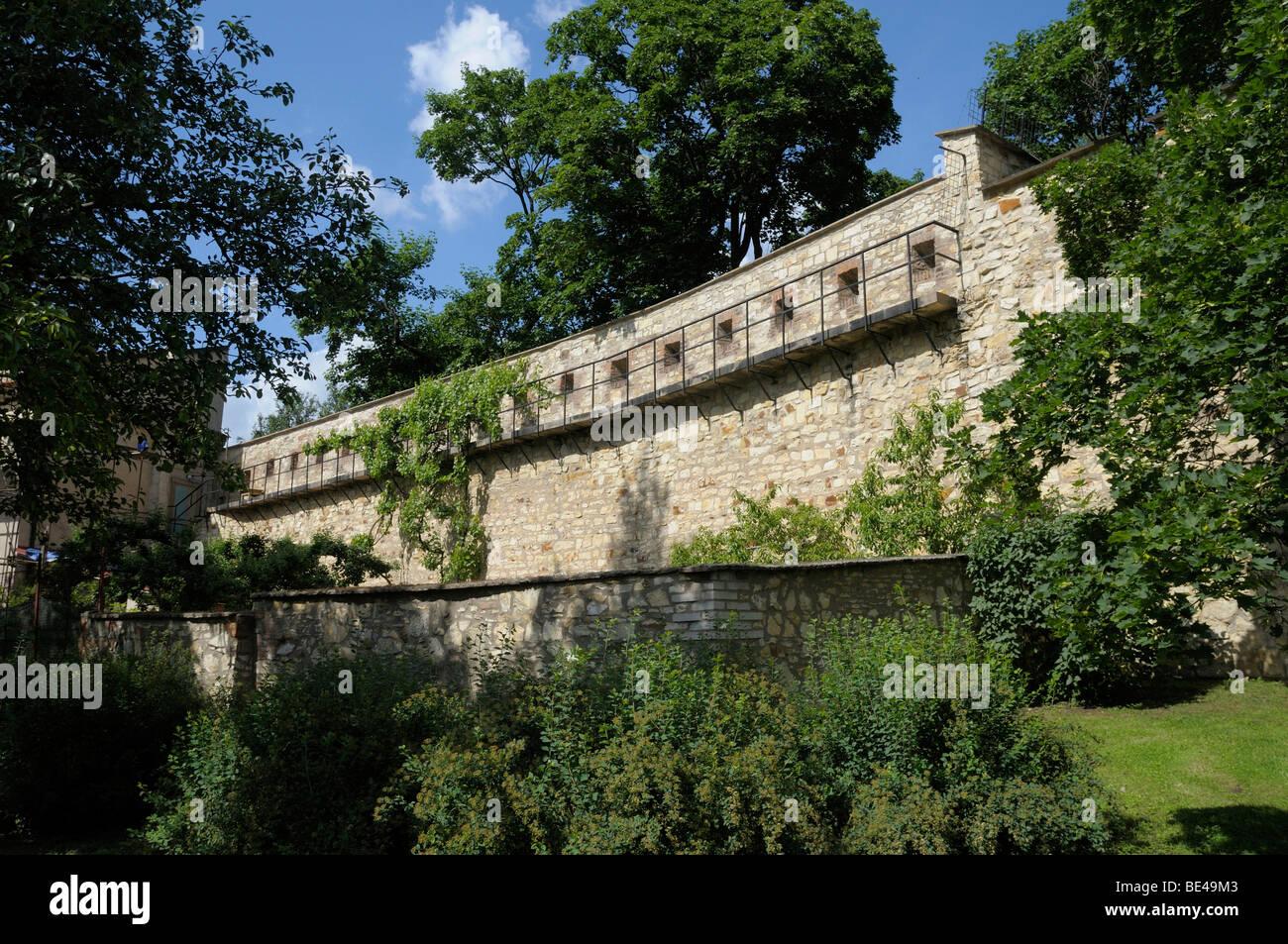 Mur de la faim, Petrin, Prague, République Tchèque, Europe Photo Stock