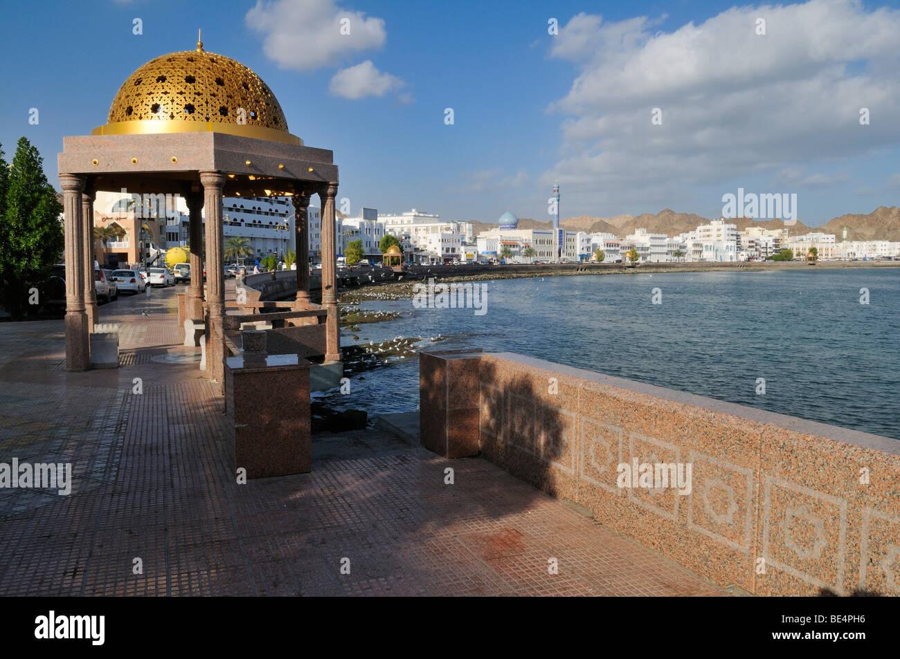 Corniche de Mutrah, Muscat, Sultanat d'Oman, l'Arabie, Moyen-Orient Photo Stock