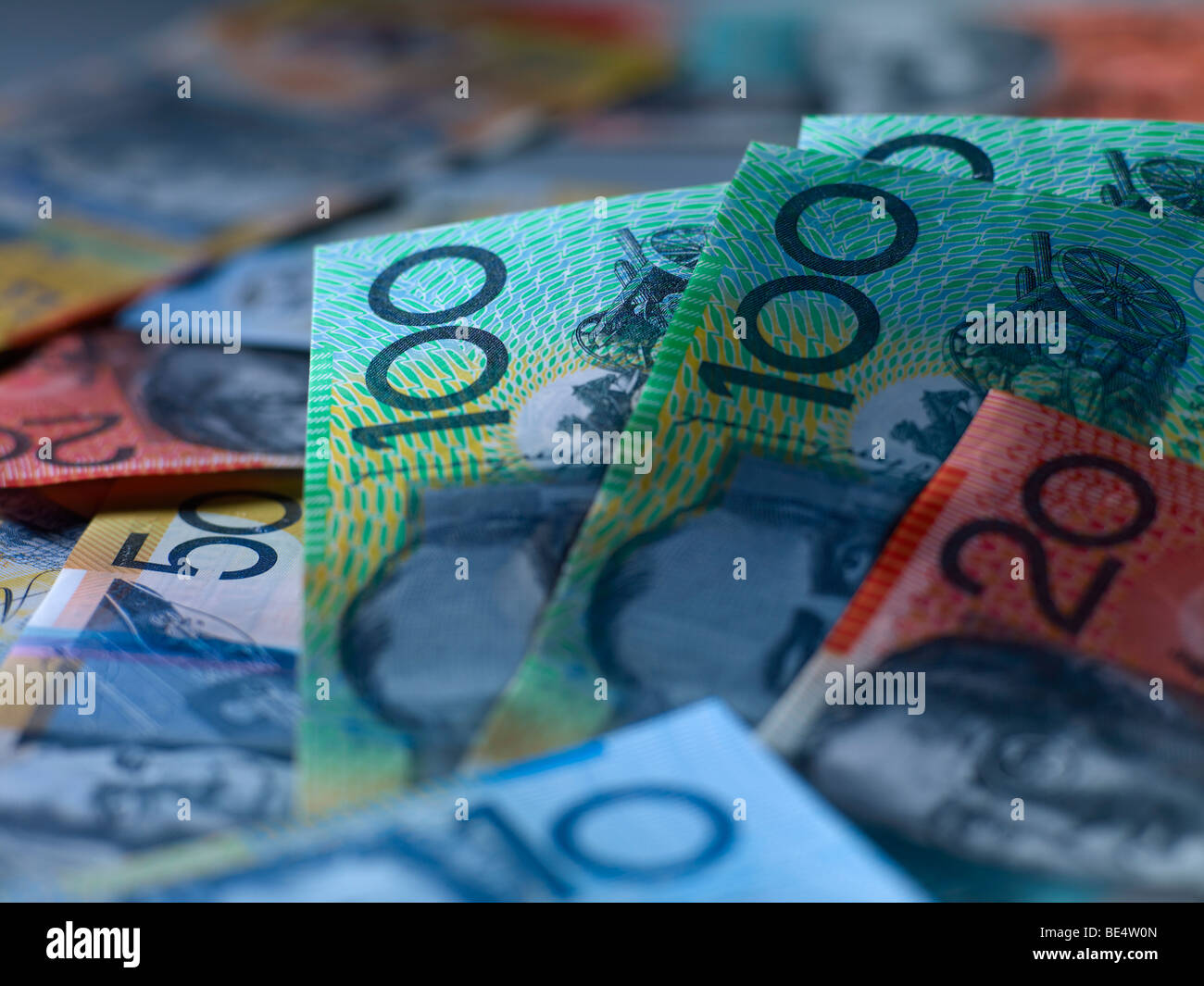 La monnaie australienne Photo Stock