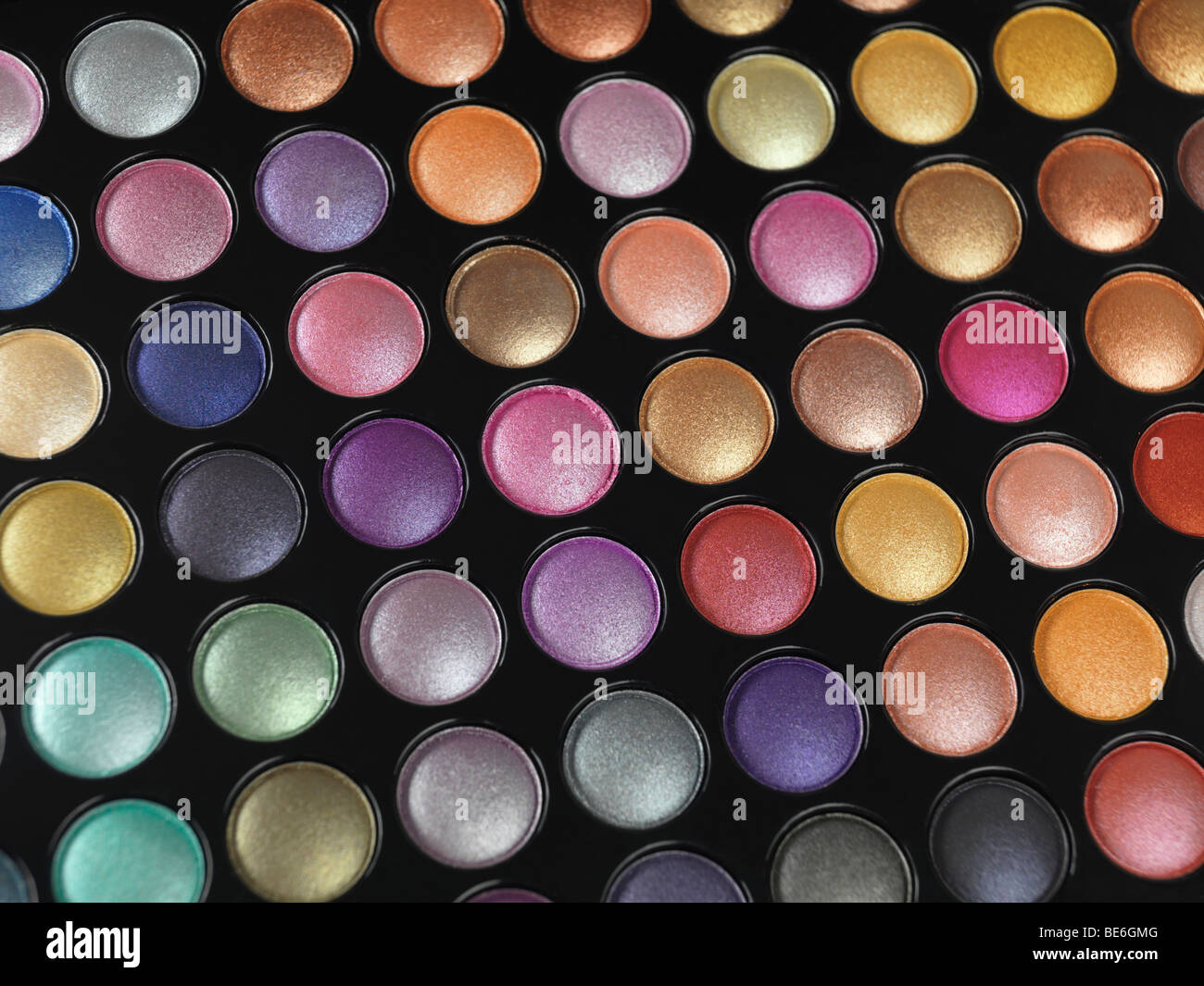 Palette ombre à paupières colorées Photo Stock