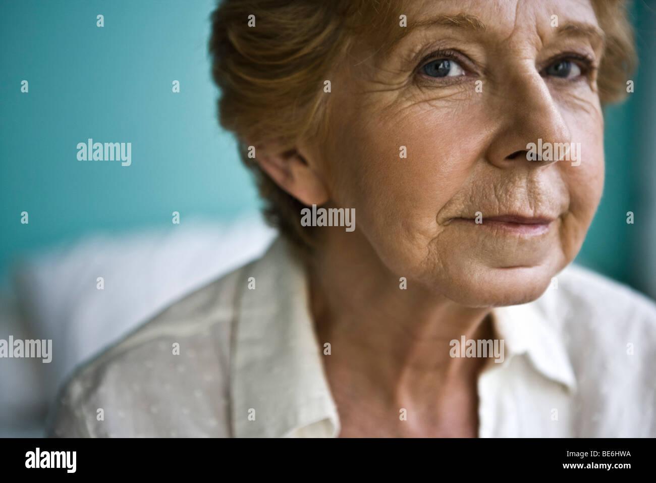 Senior woman, close-up Photo Stock