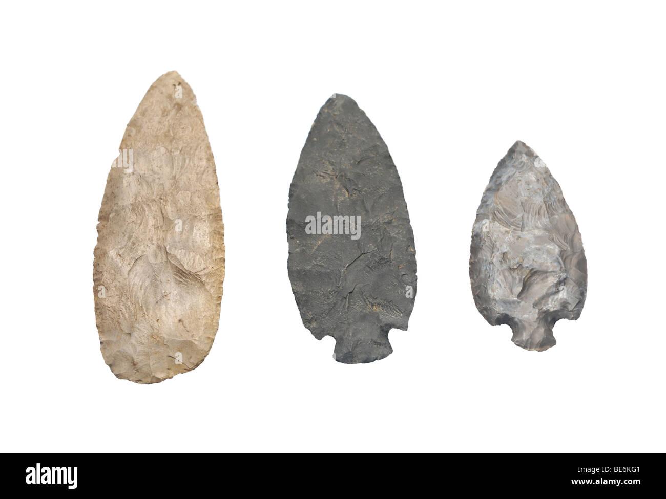 Native American de lance en pierre Banque D'Images