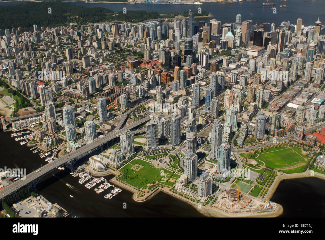 Photo aérienne de Vancouver, British Columbia, Canada Photo Stock