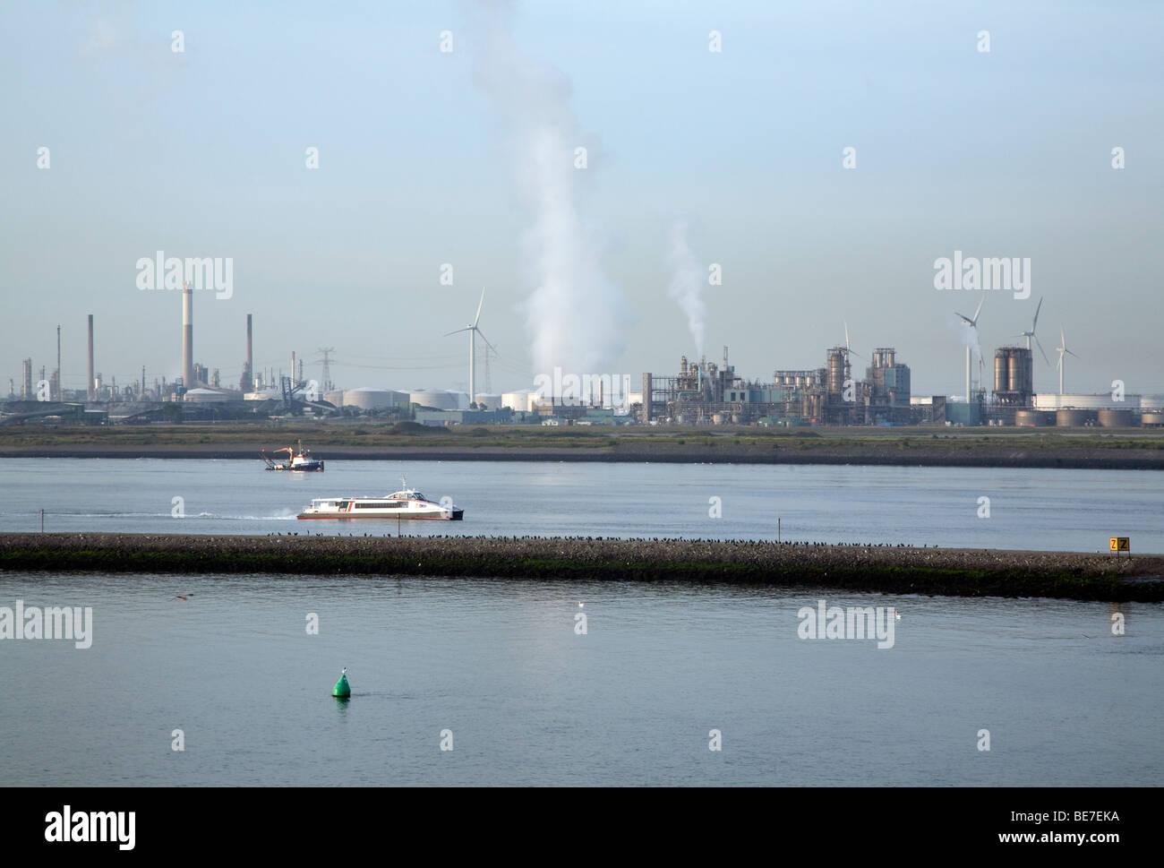 L'industrie lourde, Port de Rotterdam, Holland Photo Stock