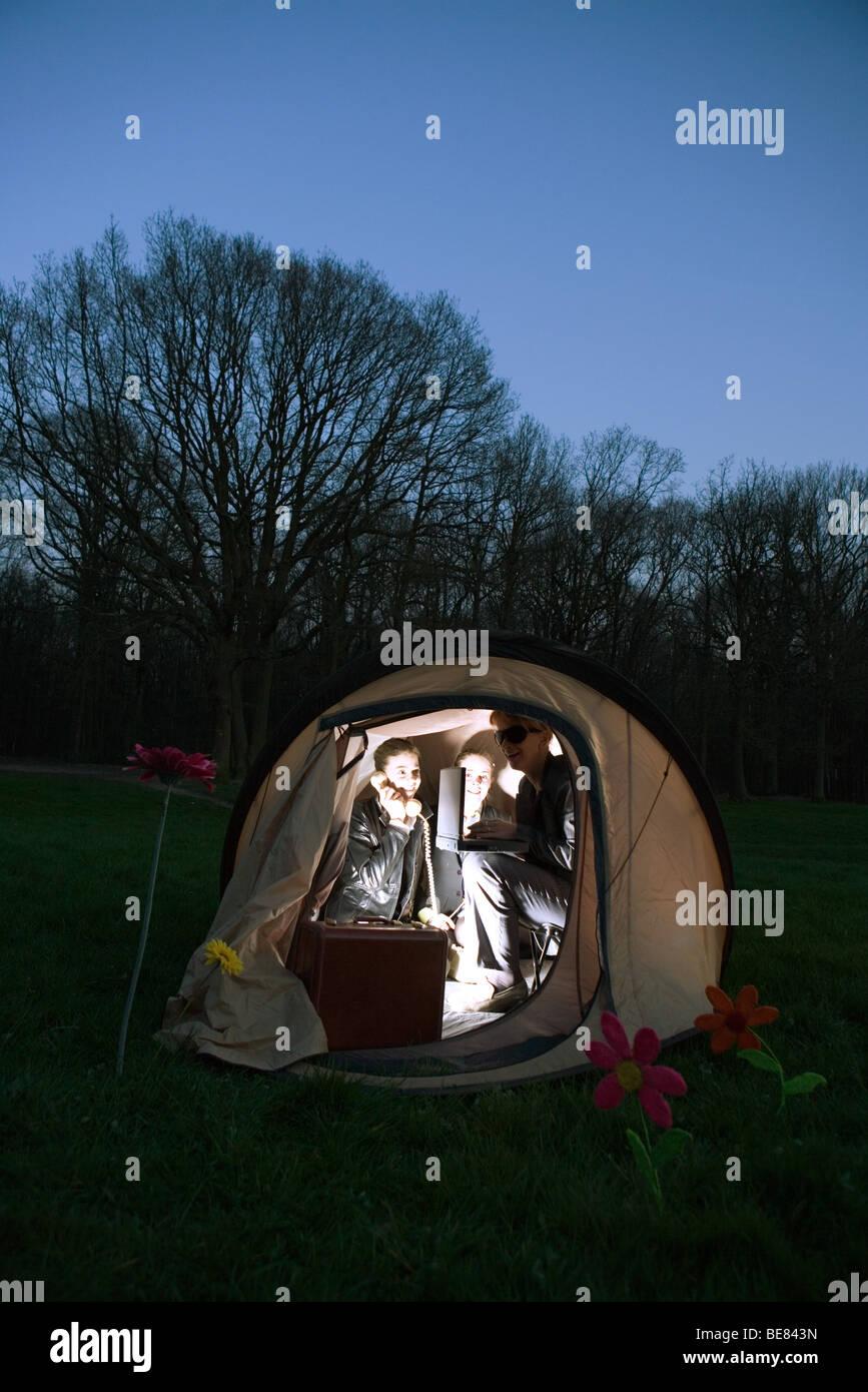 Sexe de l'adolescence Camping
