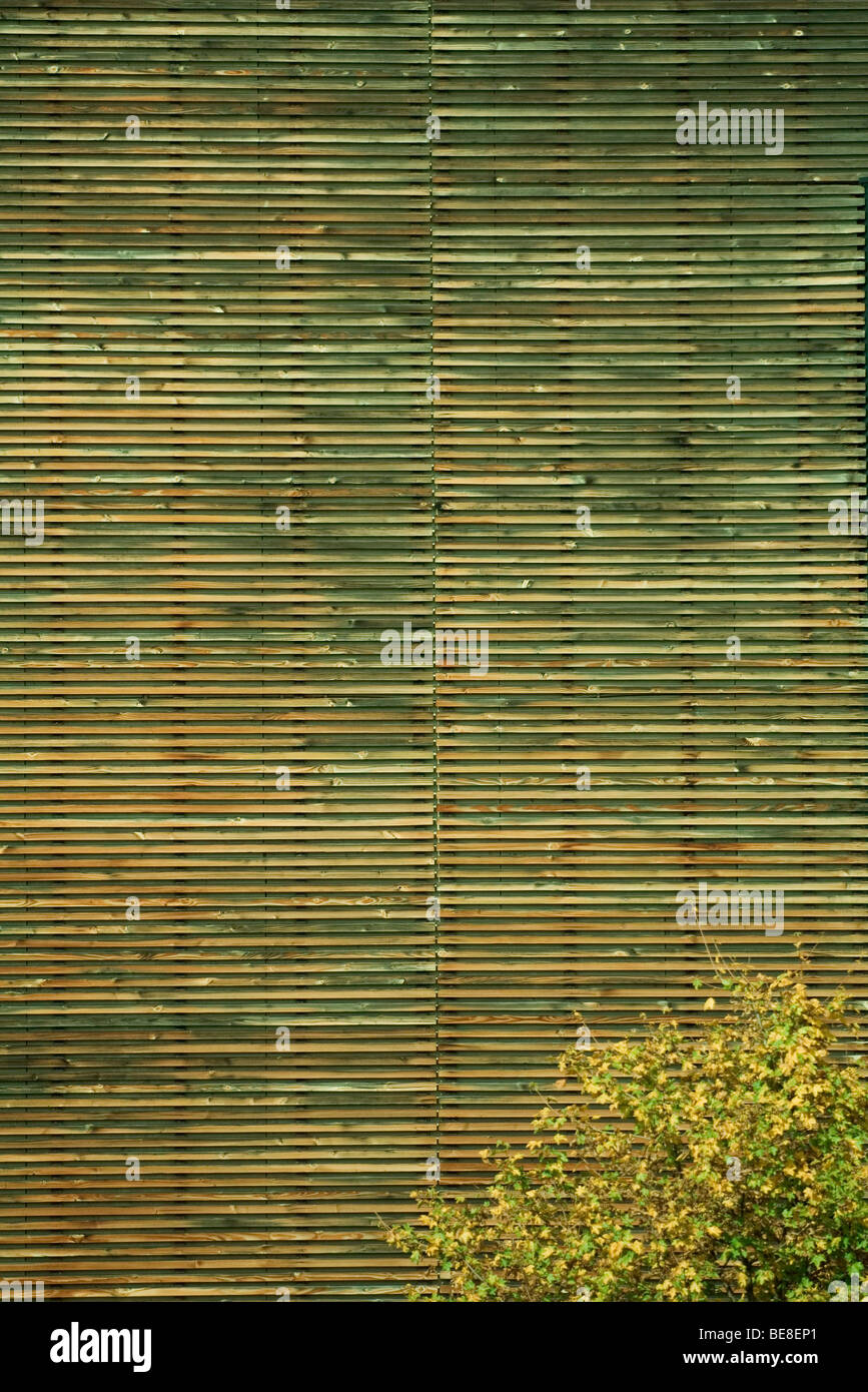 Des lambris en bois d'extérieur de bâtiment, full frame Photo Stock
