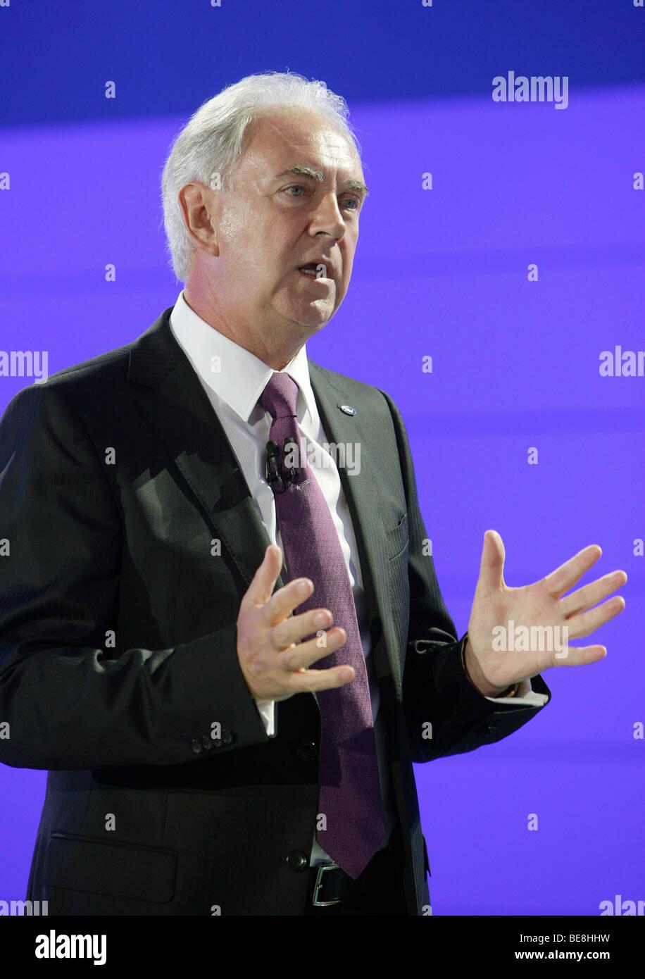 John Fleming, président et CEO de Ford Europe Photo Stock