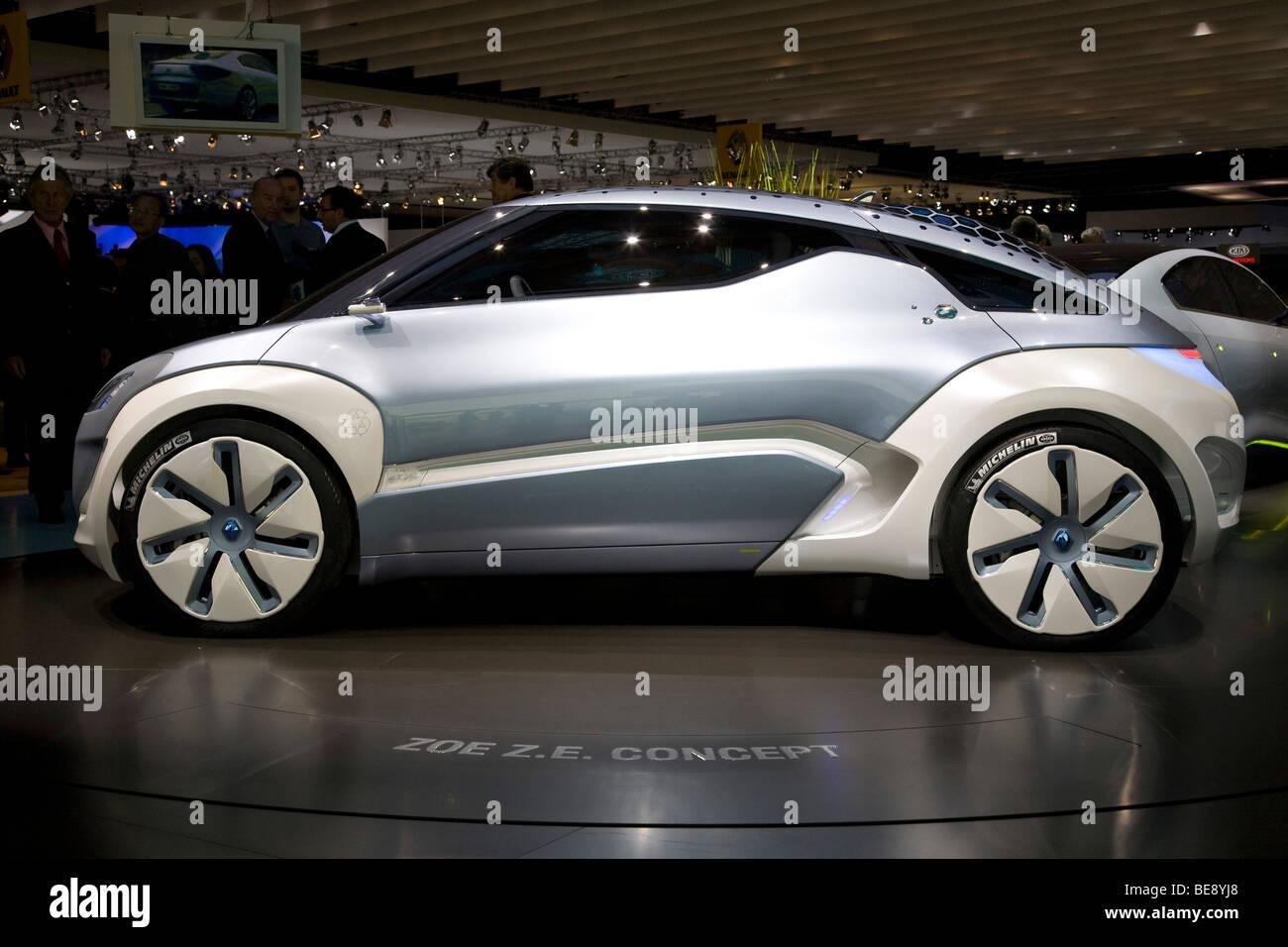 Renault Zoe ZE Concept voiture électrique à un salon de l'automobile européenne Photo Stock