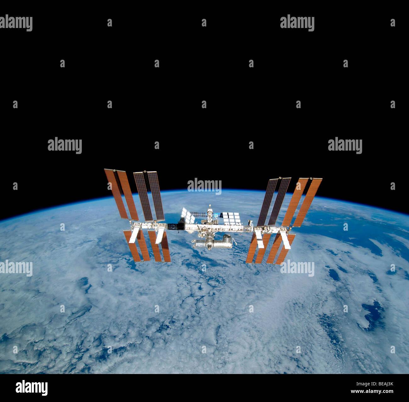 Station spatiale internationale. Version optimisée et améliorée d'un original de l'image Photo Stock