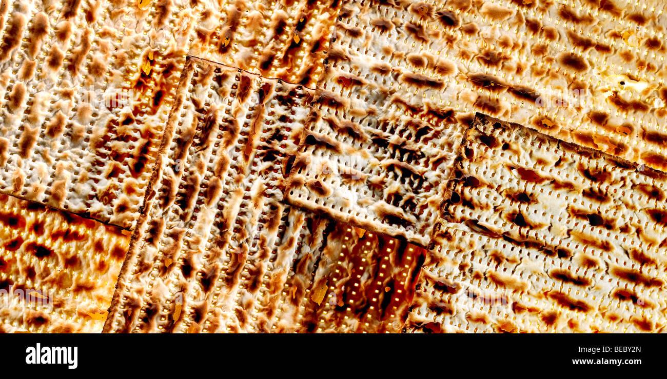 Craquelins ou pain azyme un substitut de pain sur la fête juive de la pâque. Photo Stock