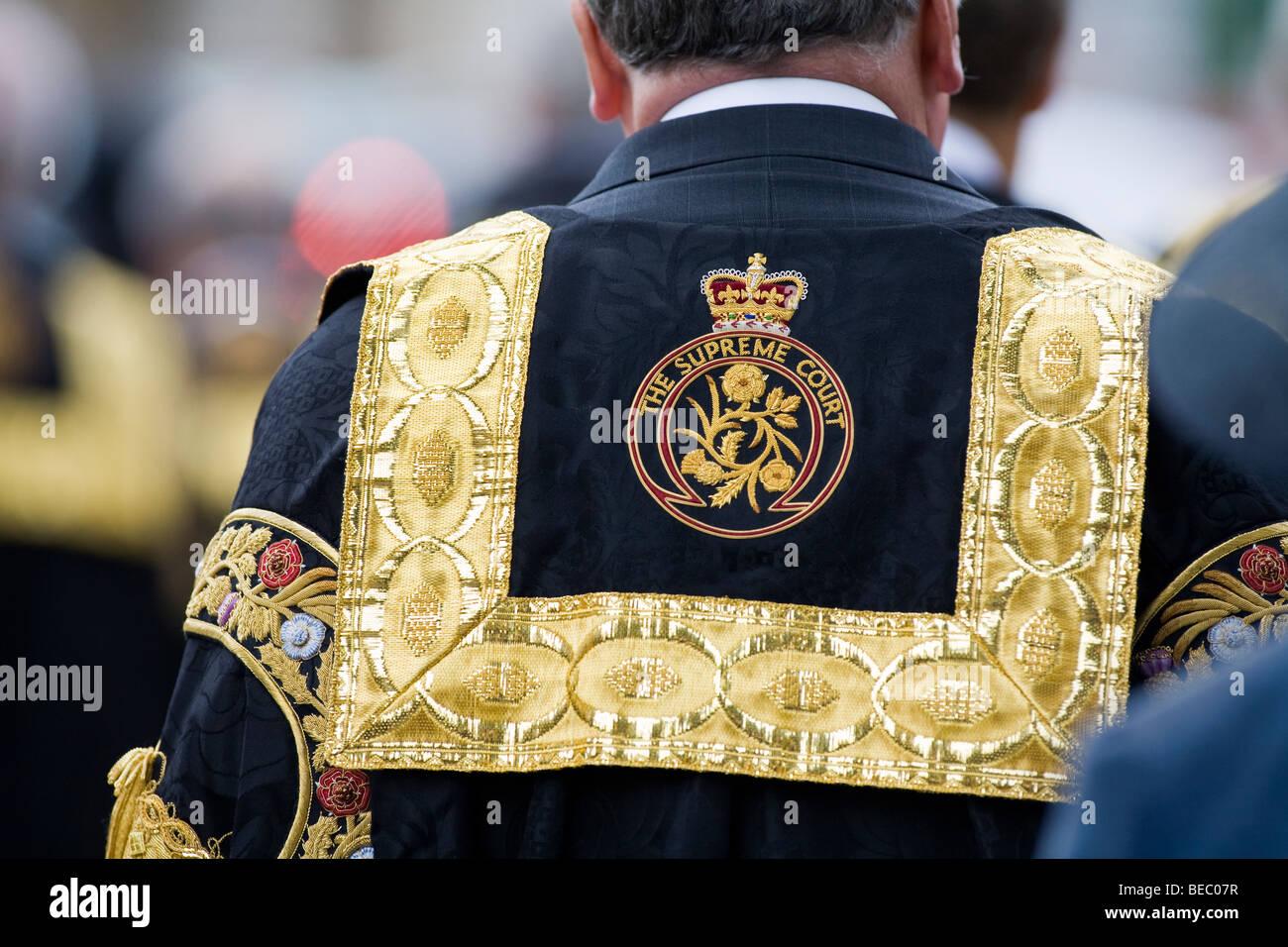 La Cour suprême du Royaume,Uni robe logo emblème des juges