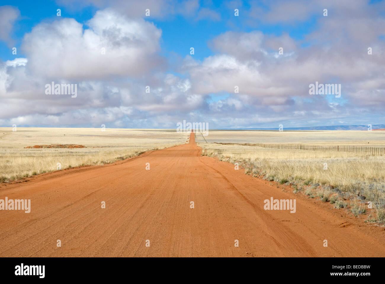 Sur la route d0707 sur le bord du désert du namib, Namibie, Afrique Photo Stock