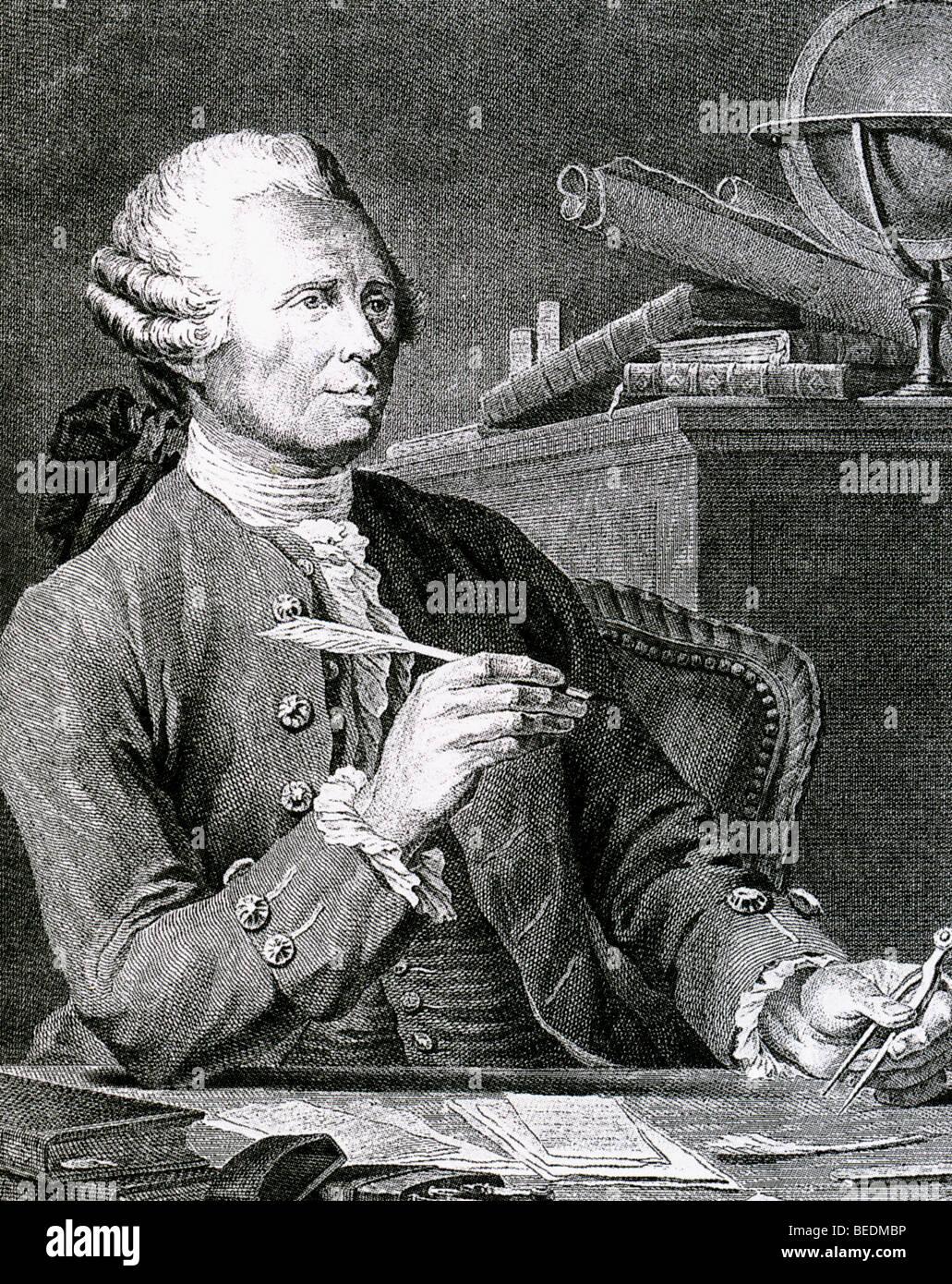 JEAN le rond d'Alembert - Philosophe et physicien français (1717-1783) Photo Stock