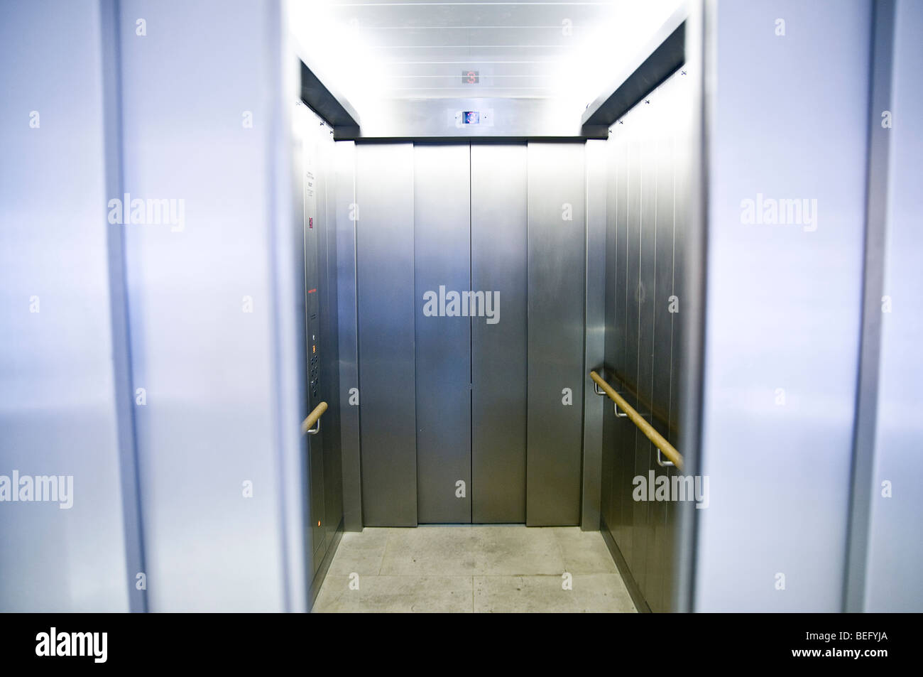 L'ascenseur ou l'ascenseur Photo Stock