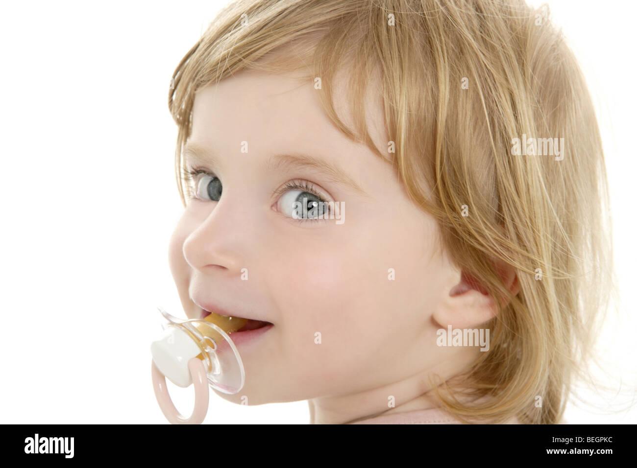 Lfc1tkj Pequeño fondo todos los ojos rubio sobre y Cabello bebé azul blanco chupar f7Yv6byIg