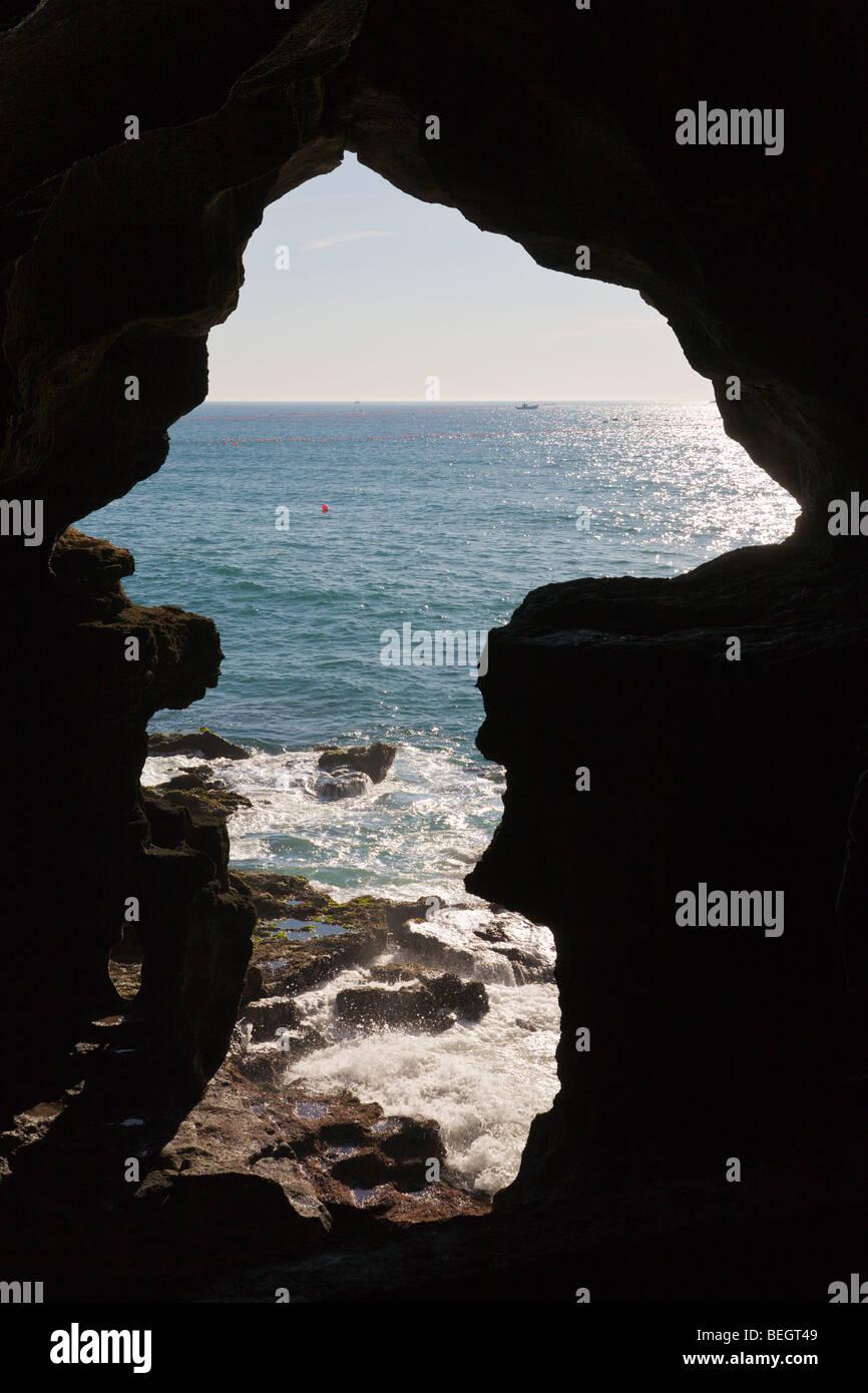 Grotte Hercule tanger maroc Photo Stock