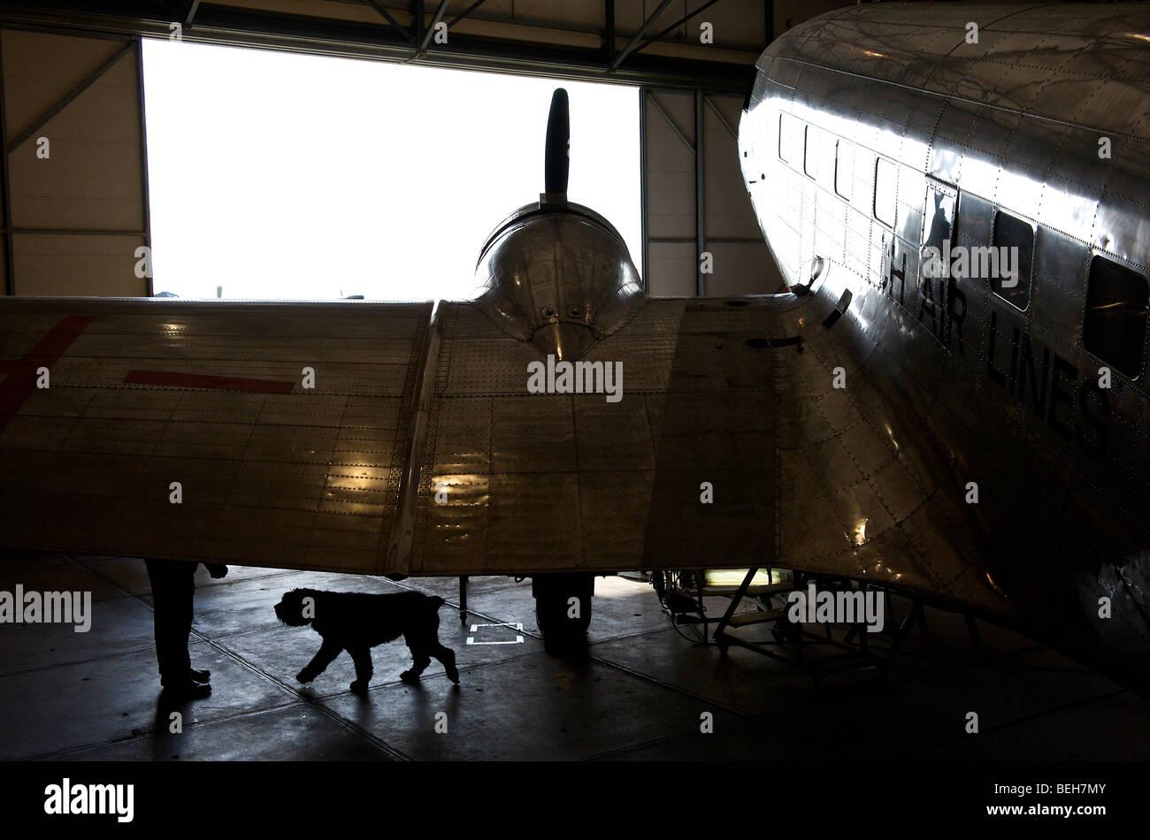 Lelystad, le musée de l'aviation, l'Aviodrome Douglas DC-2 Uiver Banque D'Images