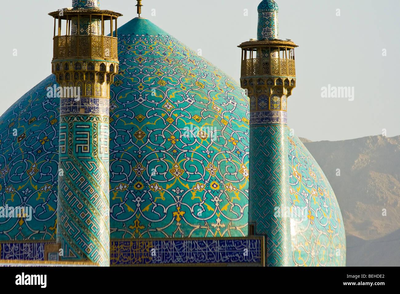 Dans la mosquée d'Imam Shah ou place Imam à Isfahan Iran Photo Stock