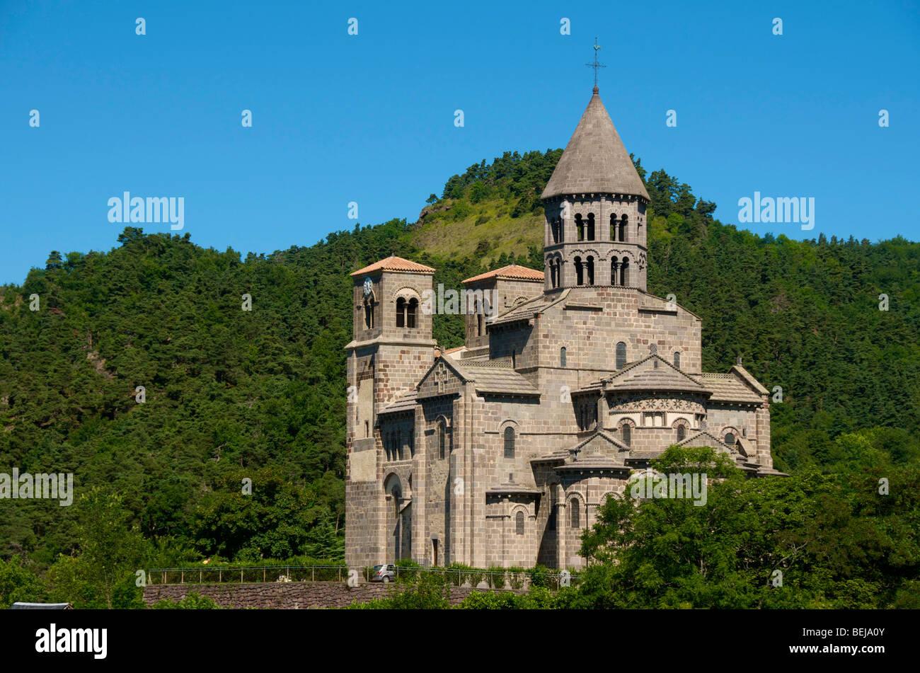 Eglise de St Nectaire . L'Auvergne. France Banque D'Images