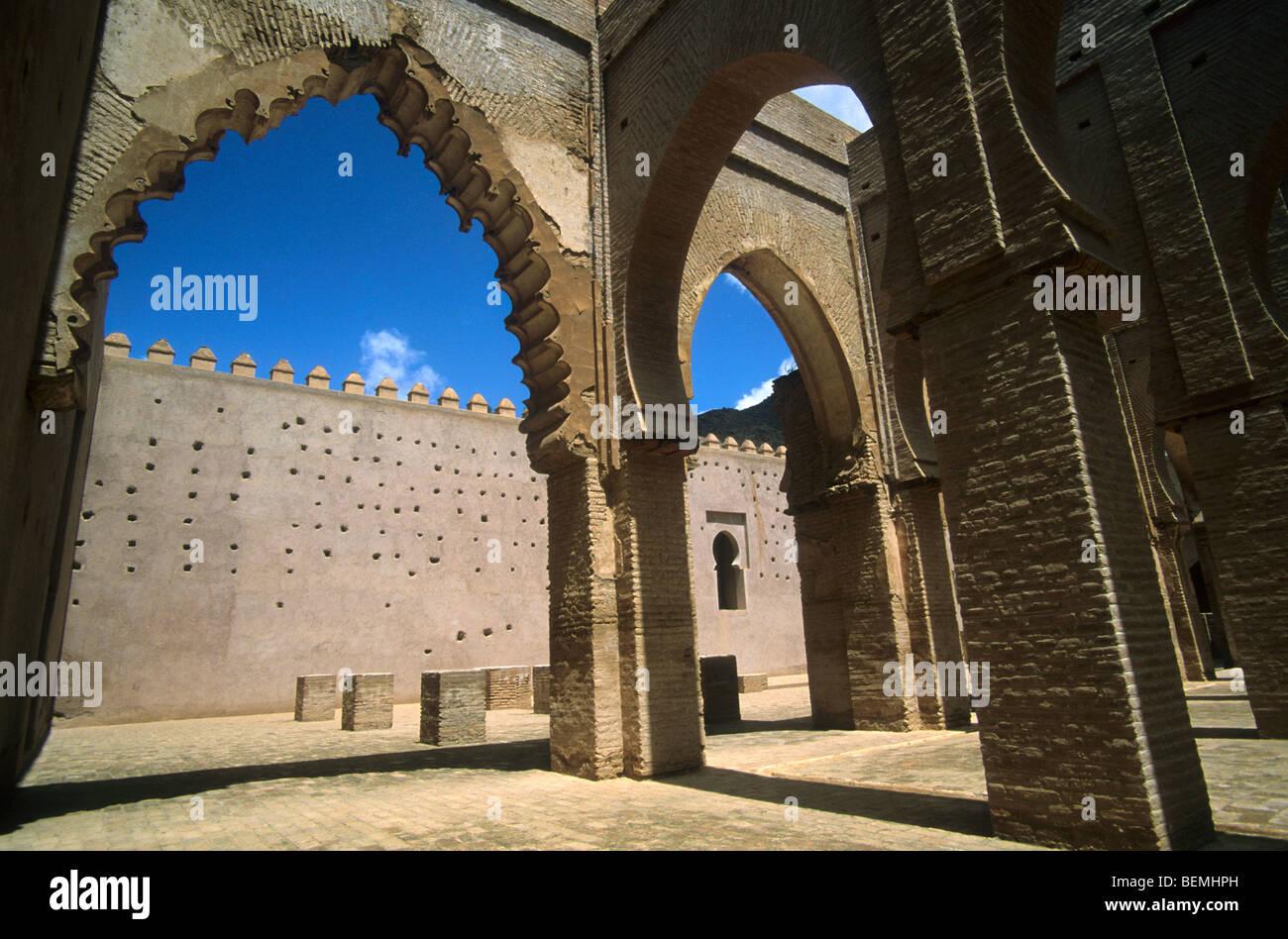 Intérieur de la mosquée de Tinmel / Tin Mal, Haut Atlas, Maroc Photo Stock